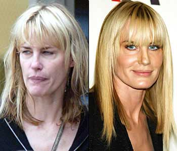 daryl hannah with and without makeup and a blow dry